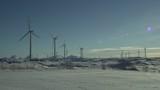 Windmills winter landscape - 196096489