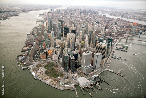 Poster New York Aerial view of Manhattan skyline, New York City
