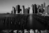 Landscape of Manhattan. View of Brooklyn Bridge Park to Manhattan. - 196106247