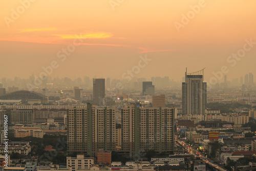 Foto op Canvas Bangkok Bangkok sunset, Bangkok city, Bangkok Thailand, Sunset