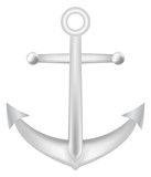 steel anchor vector on a white background