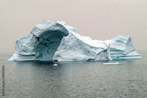 Fotobehang Antarctica View of iceberg in the Arctic Ocean off the coast of Greenland