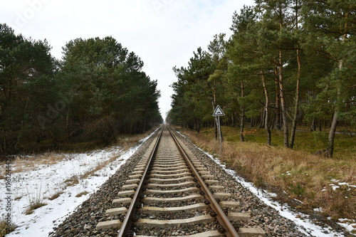Impressions from Chalupy, here you can see the Railroad tracks of Zatoka Pucka, Pomerania, Poland