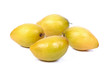 Ziziphus mauritiana, also known as Jujube, Chinese Apple, Indian plum, on white background