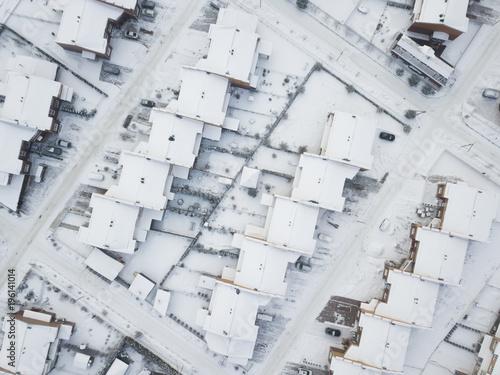 Little Scotland village, top view. Moscow region