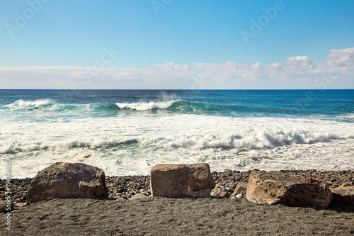 Poster Canarische Eilanden Beautiful landscape of Lanzarote Island