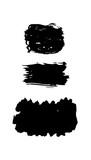 Vector Set of black brush - 196147241