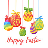 Easter day greeting card - 196150451