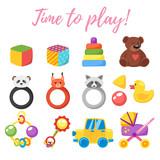baby shower set of symbols