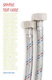 plumbing hoses isolated - 196152623