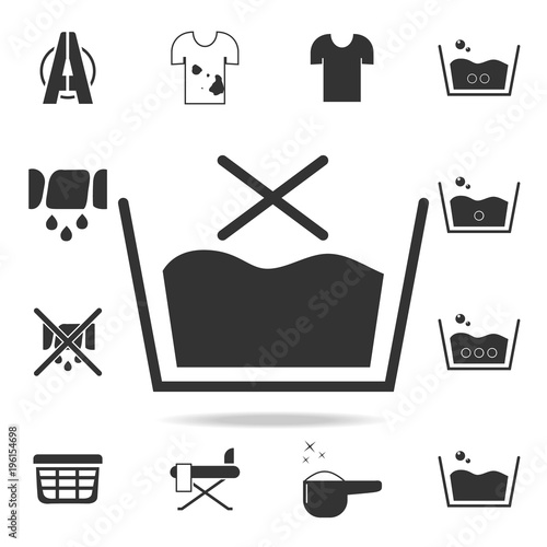 No Wash Sign Icon Detailed Set Of Laundry Icons Premium Quality
