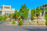 Cibeles Fountain and Cervantes Institute (Instituto Cervantes) i - 196158683