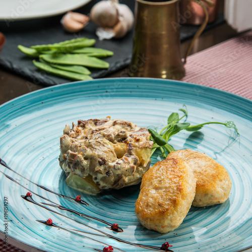 Gourmet restaurant food