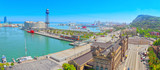 Panorama from the monument to Christopher Columbus on the Barcel - 196160650