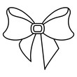 ribbon bowntie decorative icon vector illustration design