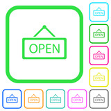 Open sign vivid colored flat icons - 196163005