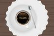 Kaffeetasse mit Untertasse - Health