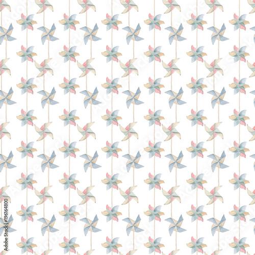 Watercolor kids  seamless pattern. - 196164800