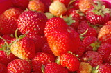 Background of ripe strawberries - 196165411