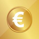 Gold Medaille - Euro-Zeichen - 196168849