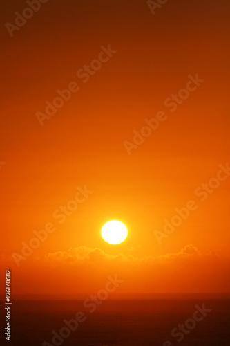 Deurstickers Baksteen Sunrise over the ocean
