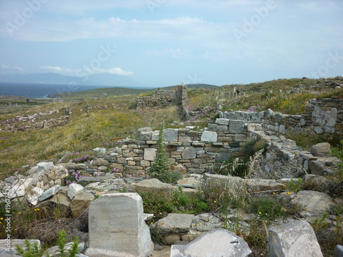Foto op Plexiglas Donkergrijs Délos, Cyclades, Grèce