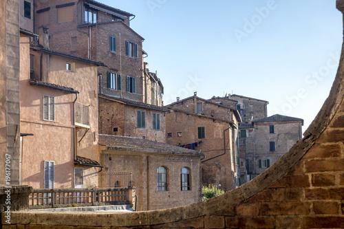 Fototapeta Siena, Italy: historic buildings