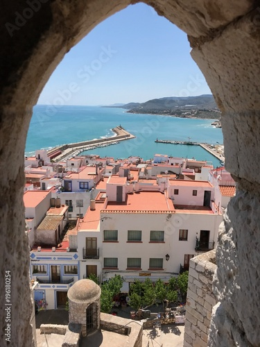 View to Peniscola, Spain, Castle