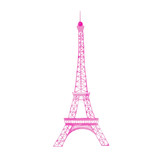 Watercolor vector Eiffel Tower
