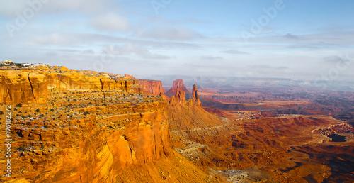 In de dag Oranje eclat canyonlands