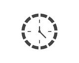 clock icon vector flat illustration