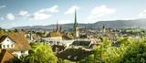 Panoramic view of Zurich city, Switzerland