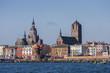 Leinwanddruck Bild - Silhouette der Hansestadt Stralsund, Mecklenburg Vorpommern,Deutschland