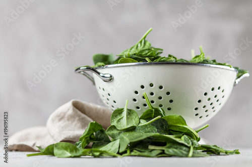 Foto Murales Baby spinach leaves