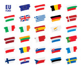 flags of the european union - 196199889