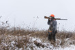 A young hunter out bird hunting in Iowa