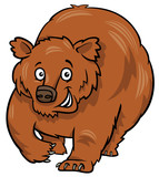 cartoon grizzly bear animal character - 196205884