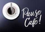 café - pause café - détente - pancarte - tasse de café - affiche - pause - salarié - entreprise - tasse à café