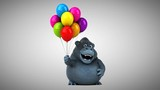 Fun gorilla - 3D Animation - 196210451