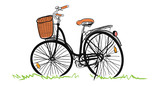 Hand drawn of Bicycle, illustration