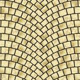 Arched cobblestone pavement texture 032 - 196217801