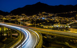 Light trails near Machico, Madeira