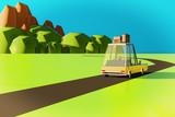Summer Travel 3D Illustration