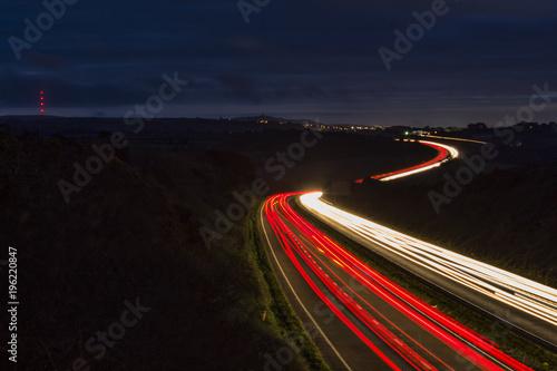 Aluminium Nacht snelweg Rush Hour- A30, Cornwall