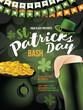 Saint Patrick's Day party background design. EPS10 vector illustration.