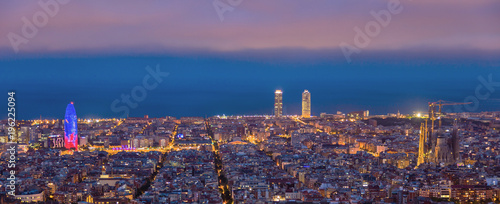 In de dag Barcelona sunrises in barcelona landscape panoramic