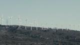 Wind Mill turbines on top of mountain range, Spain.Ungraded footage - 196225229