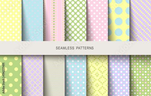 Easter patterns polka dot spring background - 196227491