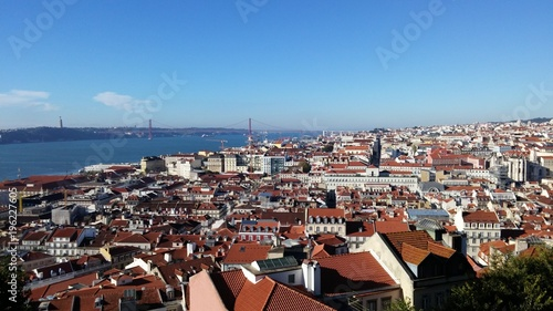 Poster Lisbon from the top