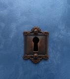 Antique lock and door - 196235095